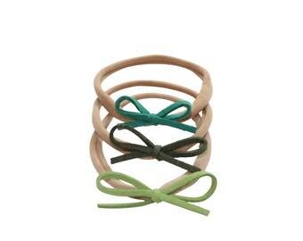 Dainty Bows - Shades of Green