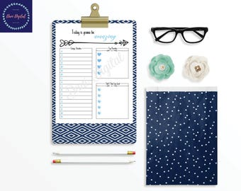 Printable Daily Planner // Daily Organizer // Day Planner // Schedule Planner //Printable Planner // Letter Size PDF // Instant Download
