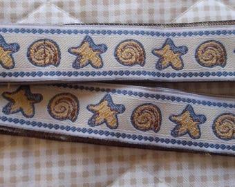 Woven star Ribbon and shell length 2 yards