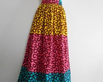 Wax (Ankara) T-44/46 long skirt