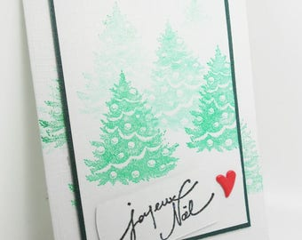handmade Merry Christmas card with envelope