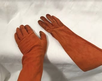Orange Suede Gloves- Sex & the City!