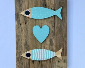 Frame - Duo of sardines, Love in Blue