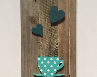 Color palette - blues coffee table
