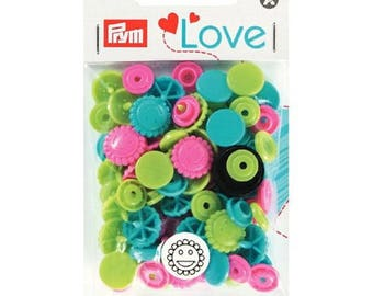 21 pressure/flowers COLOR PRYM 393081 SNAPS