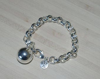 Link Bracelet chunky Belcher and ball