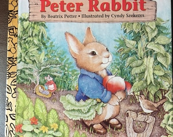 Vintage Little Golden Book The Tale of Peter Rabbit by Beatrix Potter, Illustrated by Cyndy Szekeres