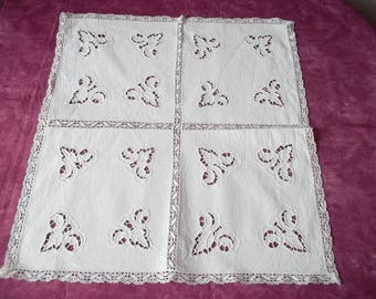 Very beautiful doily old embroidery colbert and lace