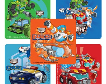 "25 Transformers Rescue Bots Stickers, 2.5"" x 2.5"" Each"