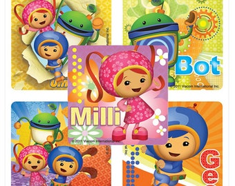 "25 Team Umizoomi Stickers, 2.5"" x 2.5"" Each"