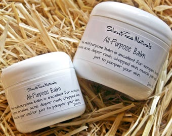All-Purpose Balm - 2 or 4 oz - Natural Skincare, For Scrapes, Burns, Bruises, Acne, Diaper Rash, Chapped Skin, Softening, Natural Products