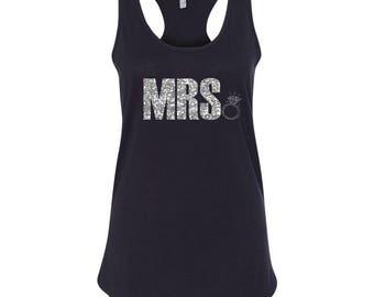 Mrs. Shirt, Bridal Shirt, Wife Shirt, Honeymoon Shirt, Wedding Shirt, Custom Wedding Shirt, Custom Wedding Gift, Bridal Shower Gift, Tank