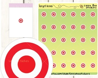 Target Icons Functional Planner Stickers