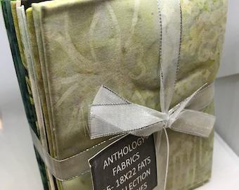 Anthology Fabrics Assorted Batiks- 15 pc Fat Quarter Bundle