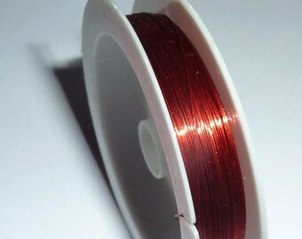 Spool of 20 m of 0.3 mm red copper wire