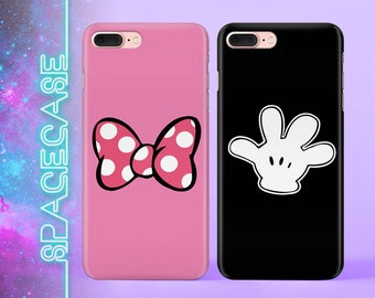 Valentine's gift Mickey Mouse iPhone X Case Disney Samsung S7 Case Galaxy S8 Plus Double iPhone Case Set iPhone Case Gift For Couples