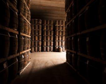 Wine barrels photo, Whiskey barrels, Rum barrels, Bar Decor, Wall Art, Rustic decor, Photography, Dominican Republic, Instant download