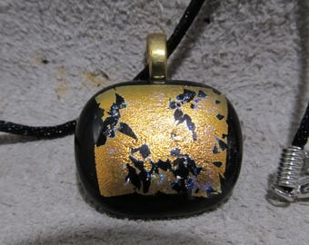 Fused glass jewelry, Dichroic pendant, Dichroic glass jewelry, Gift for her.