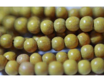 Strand beads 40 cm round 4/5 mm jackfruit wood
