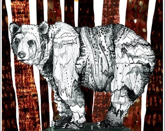 Mountain Bear // A4 Print