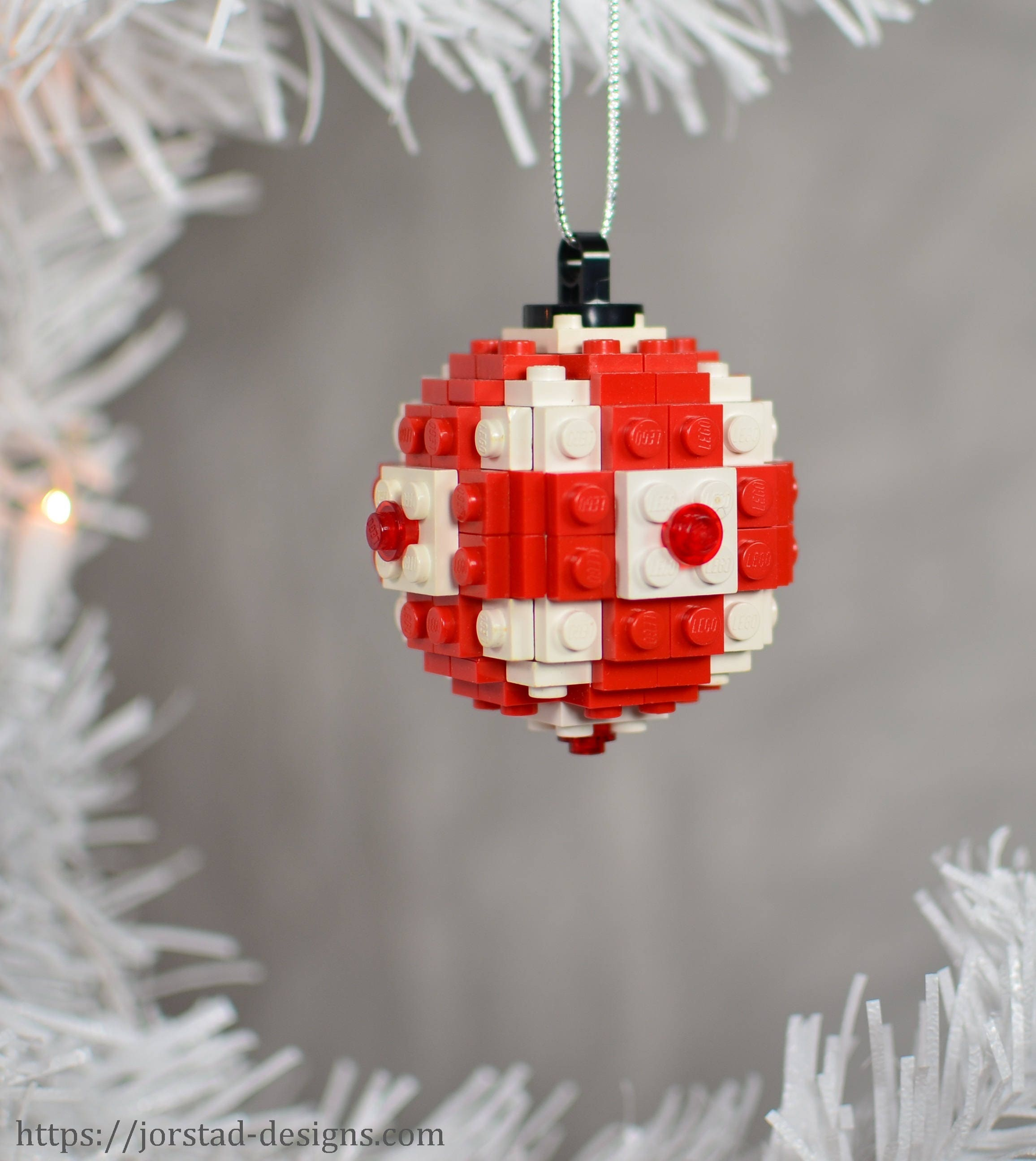 Lego Christmas Ornament Globe