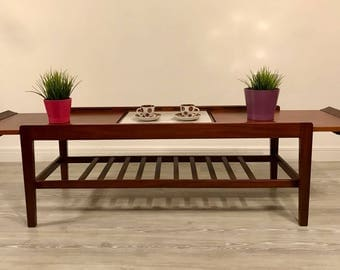 Vintage Retro Mid Century Modern Danish Design Extending Coffee Table