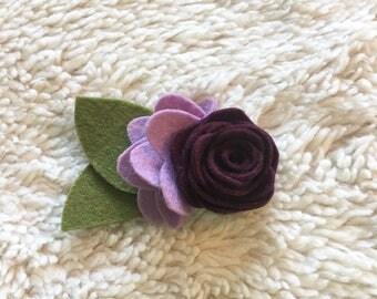 Single Rose Felt Floral Headband