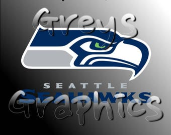 Seattle Seahawks Primary Logo with Logotype Full Color - SVG - DXF - EPS - Vectors