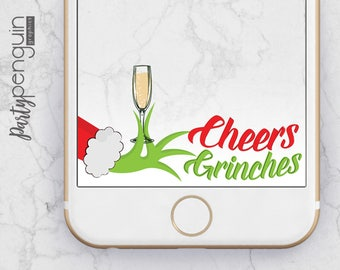 INSTANT DOWNLOAD SNAPCHAT Filter | Cheers Grinches Geofilter | Holiday Party Filter | Party Geofilter | Grinch Holiday Party Geofilter