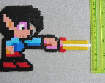 Hama Bead Pixel Creation - Mick from Ghost House on the Sega Master System