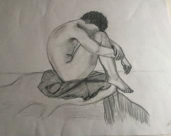 Pencil Drawn Figure