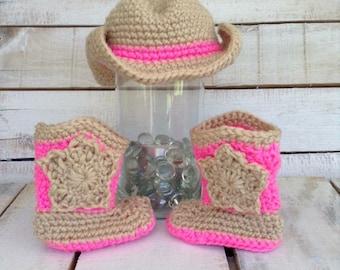 Crochet Cowgirl/Cowboy Set