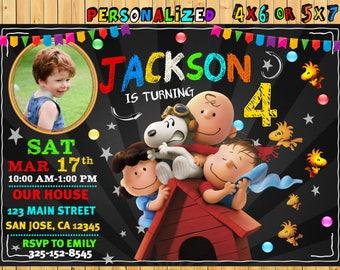 Snoopy Birthday Party Invitation, Peanuts Invite, Snoopy Digital Birthday Card,  Snoopy Party, Peanuts Invitation, Snoopy Invitation, Snoopy