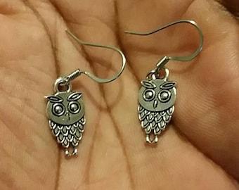 Owl Earrings (Sliver)
