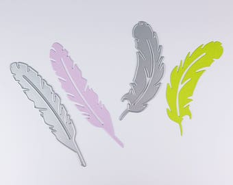 Die die cut feathers