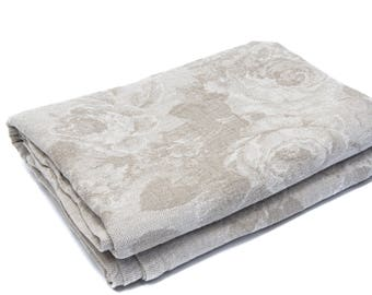 """Linen Blanket 225 cm x 235 cm """"Flowers"""""""