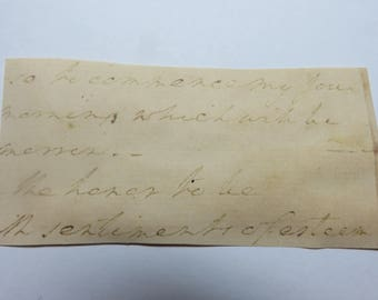 President George Washington Signed Handwritten words NOT Signature or Autograph
