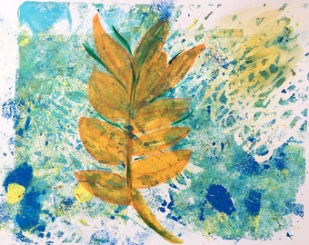 Leaf Abstract Original Art