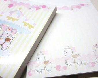 Alpaca Carousel Memo Pad
