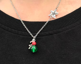 Christmas Necklace, Charm Necklace, Christmas Charm Necklace, Necklaces for Women, Christmas Jewelry, Stainless Steel Necklace, Jewelry