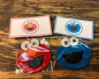 Cookie Monster clay ornament.Elmo clay ornament.sesamestreet clay ornament.cookie Monster gift tag.Elmo gift tag.Elmo Christmas ornament.