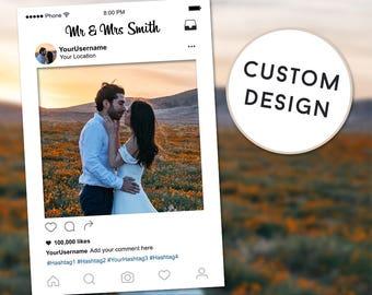 Instagram Frame Wedding, Wedding Frame, Bridal Shower Photo Prop, Wedding Photobooth, Instagram Sign, Instagram Prop, Wedding Photo Prop