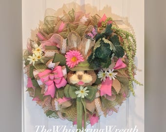 Easter Wreath - Bunny Wreath - Spring Wreath - Butterfly Wreath - Willow Tree Wreath