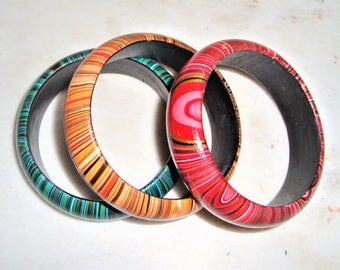Bracelet,Vintage,Vintage Bracelet,Wood,Flowers,Vintage,Valentine,Summer,women gift,Green,Orange,Pink,Fuchsia,Women,Boho