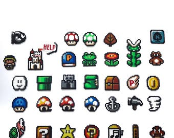 Super Mario 3 Inspired Item Sprites