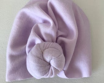 Lavender Knotted turban