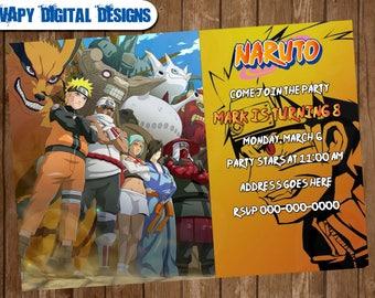 Naruto Invitation Etsy