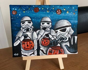 Trick or Treating Stormtroopers - Original Canvas Painting
