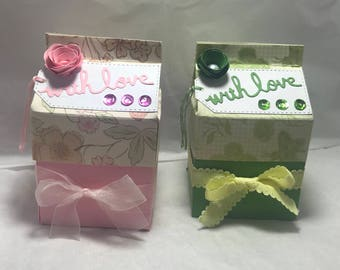 Handcrafted Childrens Milk Carton Gift Box