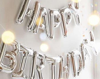 Silver Letter Balloons Silver Number Balloons
